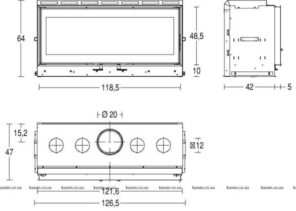 схема топки Piazzetta MC 120/48