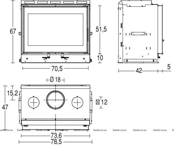 схема топки Piazzetta MC 70/51