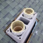 монтаж керамического дымо