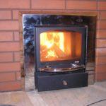 огонь внутри банной печи